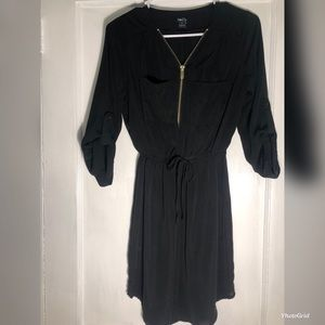 Rue21 Black Zip-up Dress